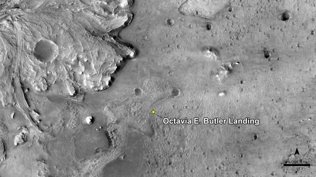 Image of the Octavia E. Butler Landing site on Mars, from the NASA website.